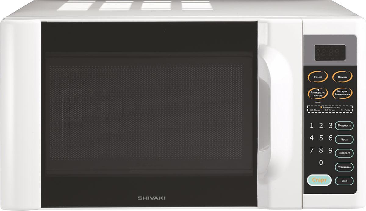 Shivaki SMW2006EW СВЧ-печьSMW2006EWМикроволновая печь Shivaki SMW2006EW предназначена для быстрого приготовления или быстрого подогрева пищи, а также для размораживания продуктов. Shivaki SMW2006EW проста в использовании, оснащена десятью режимами мощности, режимом Экспресс, режимом разморозки и звуковым сигналом об окончании приготовления. Управление электронное. Компактная микроволновая печь со стильным дизайном отличается высоким качеством сборки, прочностью и надежностью, станет неизменным атрибутом на вашей кухни.