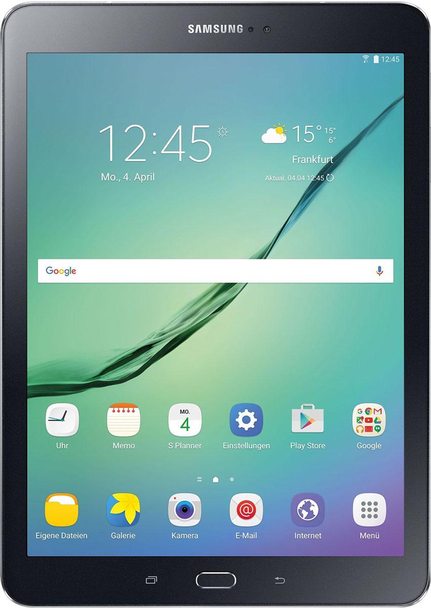 Samsung Galaxy Tab S2 SM-T813, BlackSM-T813NZKESERПланшет Samsung Galaxy Tab S2 выполнен из цельно металлического корпуса с толщиной всего 5.6 миллиметров и по праву является самым тонким планшетом в мире. При весе всего 389 грамм и диагональю 9.7 дюймов является еще и самым лёгким в своём сегменте. Стоит отметить и форм-фактор дисплея, с соотношение сторон 4:3, с таким дисплеем гораздо комфортнее пользоваться социальными сетями и интернет браузером или просто читать книгу.Планшет Samsung Galaxy Tab S2 обладает потрясающим SuperAMOLED дисплеем с разрешением 2048x1536 пикселей. Восьмиядерный процессор с чистотой 1,9 ГГц , 3 гигабайта оперативной памяти и 32 встроенной, которую можно увеличить картой памяти microSD до 128 гигабайт. Основная камера, делает отличные фото даже при слабом освещении, благодаря 8 мегапикселям и светосилы 1.9, а фронтальная, 2.1 мегапикселя для скайпа и селфи. Для зашиты персональных данных воспользуйтесь инновационным сканером отпечатка пальцев. Или блокируйте планшет по отпечатку. Чтобы разблокировать, просто прикоснитесь с кнопке Home.Планшет Samsung Galaxy Tab S2 работает под мобильной операционной системой Android 5.0, Lollipop, которая обеспечивает работу сразу в нескольких приложениях на одном экране. Для работы с офисными документами на планшете уже установлен пакет Microsoft Office, который работает со всеми стандартными документами. Для более длительной работы вы можете использовать режим максимально энергосбережения и продлить работу планшета в несколько раз. Планшет имеет режим специально предназначенный для детей, в котором вы можете ограничь доступ к файлам и приложениям, а так же ограничить время работы.Планшет сертифицирован EAC и имеет русифицированный интерфейс, меню и Руководство пользователя.