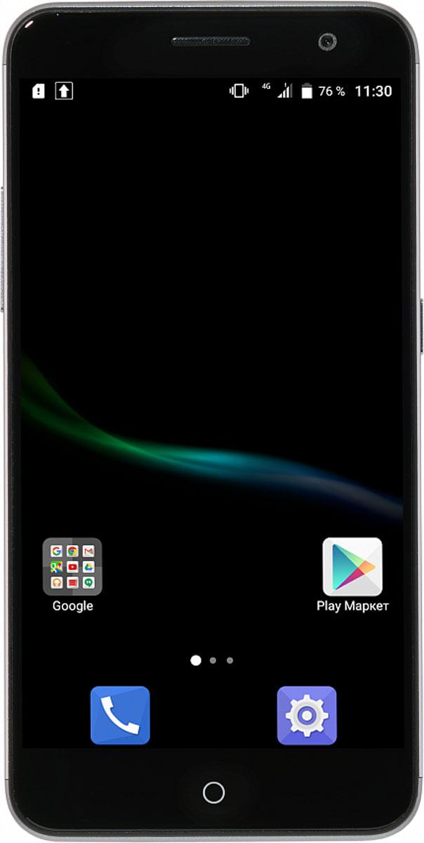 ZTE Blade V7, GreyZTE BLADE V7 GREYСмартфон Blade V7 порадует сочетанием высокой производительности процессора, прочного стильного металлического корпуса и продвинутого функционала.Благодаря восьмиядерному процессору MediaTek MT6753 с тактовой частотой 1,3 ГГц смартфон работает чрезвычайно шустро. Пользователю обеспечены быстрый запуск и уверенная работа практически любых приложений, а также плавное воспроизведение видео.Смартфон имеет 5,2-дюймовый дисплей с разрешением 1920х1080 пикселей. Он достаточно яркий, не вынуждает владельца напрягать глаза, обеспечивает четкое, разборчивое изображение и экономно расходует энергию аккумулятора.ZTE Blade V7 оснащен двумя камерами - основной и фронтальной. Основная предназначена для фото- и видеосъемки, для этого у нее есть 13-мегапиксельная матрица, автофокус и светодиодная вспышка, благодаря чему владелец может снимать фото и видео, которыми не стыдно поделиться с окружающими. Фронтальная 8-мегапиксельная камера предназначена для видеосвязи, также с ее помощью можно снимать яркие и необычные селфи.Телефон сертифицирован EAC и имеет русифицированный интерфейс меню, а также Руководство пользователя.