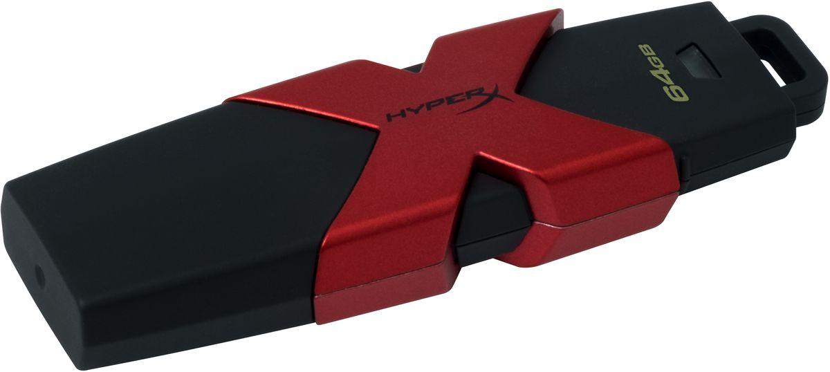 Kingston HyperX Savage 64GB USB-накопительHXS3/64GBKingston HyperX Savage - это стильный накопитель с элегантным черным корпусом и фирменным логотипом HyperX в агрессивном красном цвете. Он предназначен для использования с различными платформами и игровыми консолями, включая PS4, PS3, Xbox One и Xbox 360.USB-накопитель HyperX Savage обеспечивают высокую скорость работы (до 350 Мб/с) для экономии времени во время передачи файлов и позволяют быстро открывать, изменять и переносить файлы с накопителя без снижения производительности. Благодаря большой емкости, у вас будет достаточно места для хранения больших файлов (фильмов, фотографий с высоким разрешением, музыки и т.д.). Устройство соответствует спецификациям USB 3.1 Gen 1, поэтому вы сможете воспользоваться всеми преимуществами портов USB 3.1 в настольных компьютерах и ноутбуках, а также обратной совместимостью с USB 3.0 и USB 2.0.
