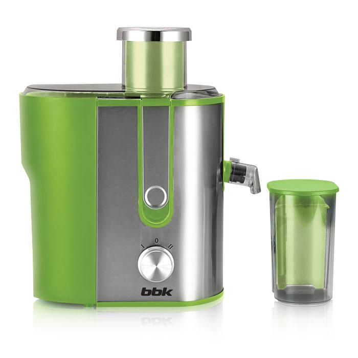 BBK JC060-H02, Green Metallic соковыжималкаJC060-H02 з/мДля людей, ведущих здоровый образ жизни, соковыжималка является, пожалуй, одним из самых полезных и любимых бытовых устройств. И BBK JC060-H02, обладающая мощностью 600 Вт, прекрасно справится с задачей по обеспечению организма витаминами. Загрузочная горловина достаточно широкая для целых яблок и крупных овощей и фруктов. Фильтр-сепаратор с лезвиями долговечен, поскольку изготовлен из высококачественной стали. Соковыжималка устойчиво стоит на поверхности благодаря прорезиненным ножкам. Функция антикапля обеспечит чистоту рабочей поверхности.
