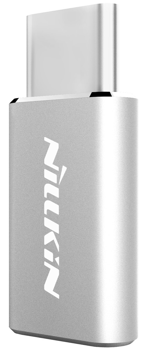 Nillkin адаптер microUSB->Type-C, Silver