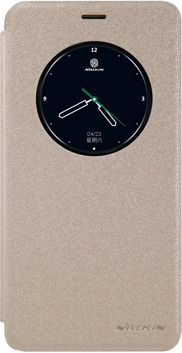 Nillkin Sparkle Leather Case чехол для Meizu M3 Note, Gold874004Y0402Чехол Nillkin Sparkle Leather Case для Meizu M3 Note выполнен из высококачественного пластика и искусственной кожи. Он надежно фиксирует и защищает смартфон при падении. Обеспечивает свободный доступ ко всем разъемам и элементам управления. Благодаря функциональному окну отсутствует необходимость открывать чехол для того, чтобы ответить на вызов, проверить время, воспользоваться камерой или любой другой функцией.