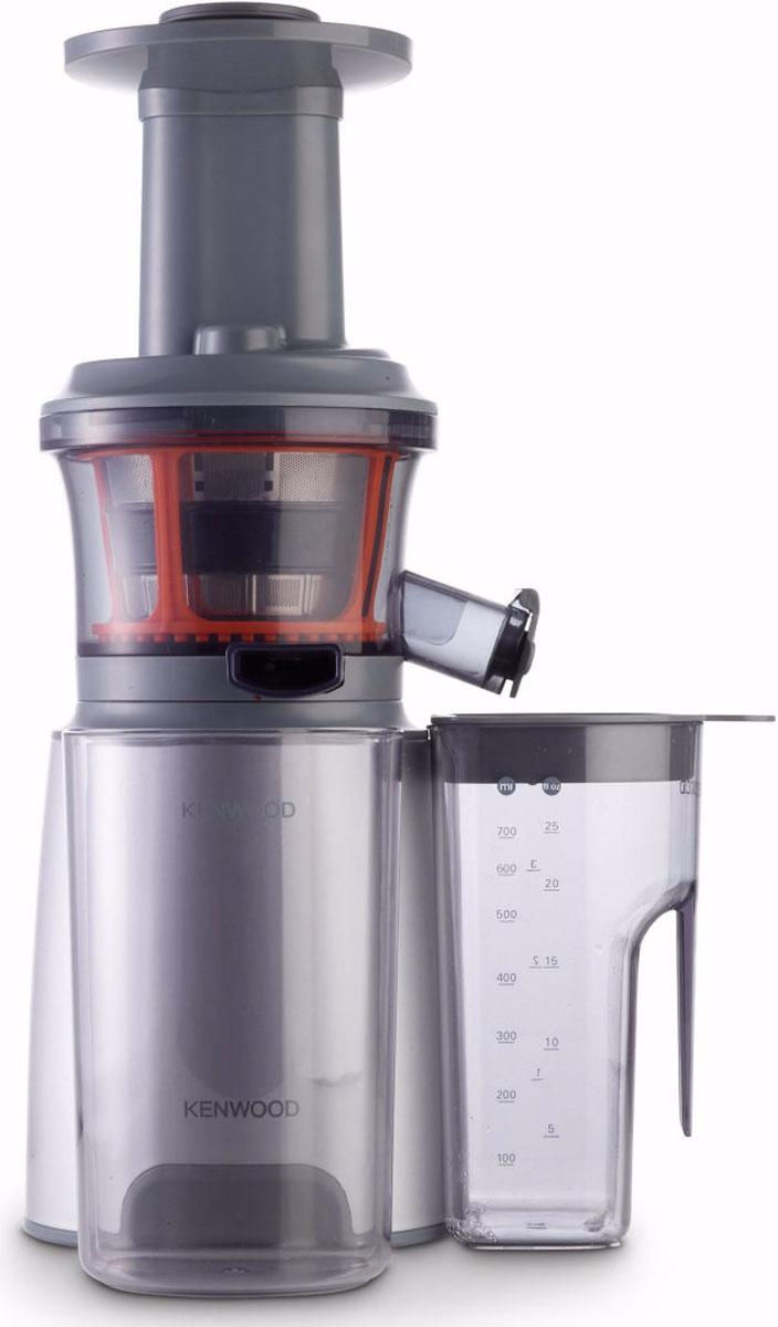 Kenwood JMP 600SI шнековая соковыжималка0W22510005Шнековая соковыжималка Kenwood JMP 600SI позволяет отжимать максимально возможное количество сока из фруктов, ягод, овощей и зелени с сохранением всех полезных компонентов. В отличие от обычной центробежной высокоскоростной соковыжималки, шнековая соковыжималка Kenwood потребляет всего около 150 Вт. При этом, модель JMP 600SIотжимает сок так же быстро и аккуратно, не разрушая естественные питательные вещества и сохраняя пищевую ценность продуктов.