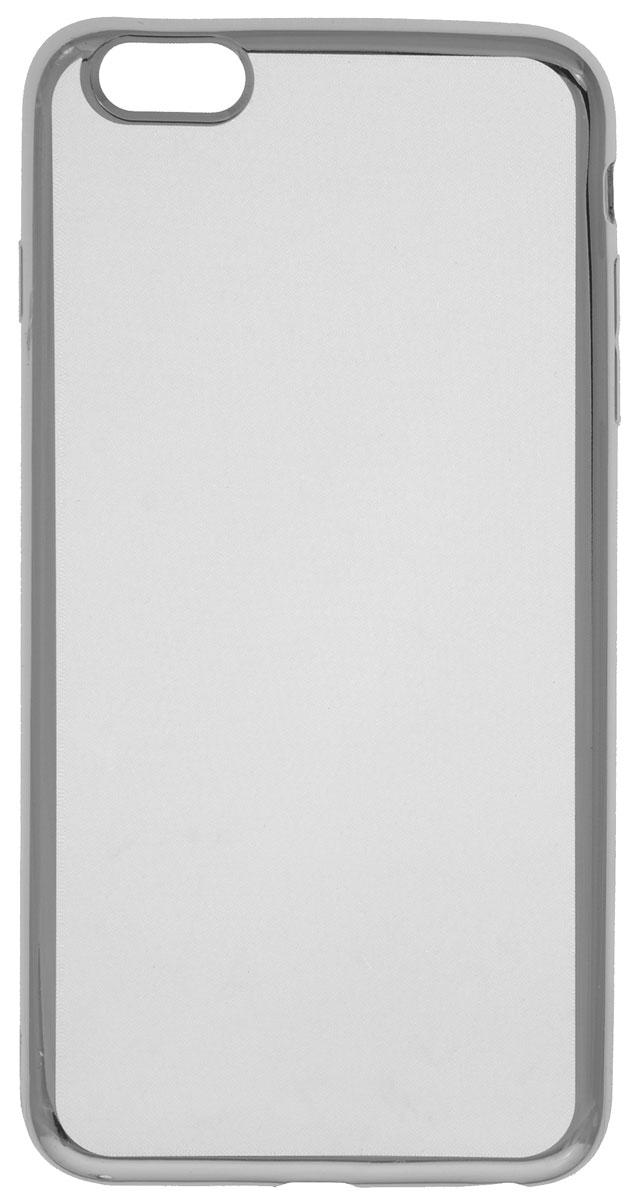 Red Line iBox Blaze чехол для iPhone 6 Plus/6s Plus, SilverУТ000008422Декоративный защитный чехол -накладка Red Line iBox Blaze для iPhone 6 Plus/6s Plus с эффектом металлических граней надежно защитит заднюю крышку смартфона от пыли, царапин и других возможных повреждений.