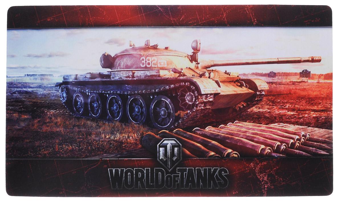 World of Tanks Т-62А коврик для мыши1325Огромный мат World of Tanks Т-62А с изображением любимого танка станет прекрасным и функциональным украшением вашего стола. Минимальная толщина и прорезиненное основание буквально приклеит его к столу.