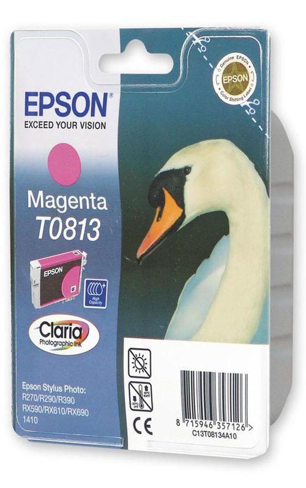 Epson T0813 (C13T11134A10), Magenta картридж для R270/TX650/T50C13T11134A10Картридж Epson T081 с чернилами для струйной печати.