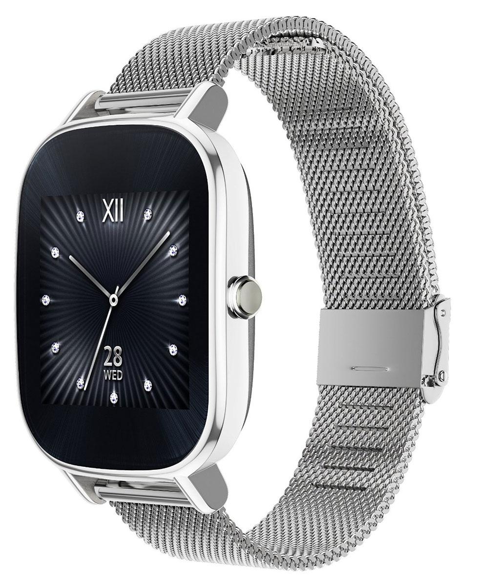 ASUS ZenWatch 2 WI502Q(BQC), Silver смарт-часы4712900359725Asus ZenWatch 2 - традиции и инновации в одном стильном устройстве.ZenWatch 2 - это стильные часы с мощной функциональностью. Корпус часов изготавливается из высококачественной нержавеющей стали.Отражая традиционный дизайн часов, на корпусе ZenWatch 2 имеется металлическая кнопка, которая используется в качестве элемента управления.Помимо 60 стандартных циферблатов можно создавать свои собственные варианты оформления экрана часов с помощью приложения FaceDesigner.С помощью часов ZenWatch 2 можно легко обмениваться короткими текстовыми сообщениями, смайликами и рисунками с друзьями и близкими.Просматривайте важную информацию и реагируйте на нее простым прикосновением к экрану или с помощью голосовой команды.Встроенный в часы шагомер обладает высокой точностью, позволяя пользователю следить за своей физической активностью и прогрессом в достижении фитнес-целей. Также имеется функция мониторинга сна.Зарядное устройство с магнитным разъемом ускоряет подзарядку по сравнению с оригинальными часами ZenWatch. Заряд аккумулятора повышается с 0% до 60% всего за 15 минут!Операционная система: Android WearПроцессор: Qualcomm Snapdragon 400 (4 ядра), 1,2 ГГцОперативная память: 512 МБСтекло Corning Gorilla Glass 3