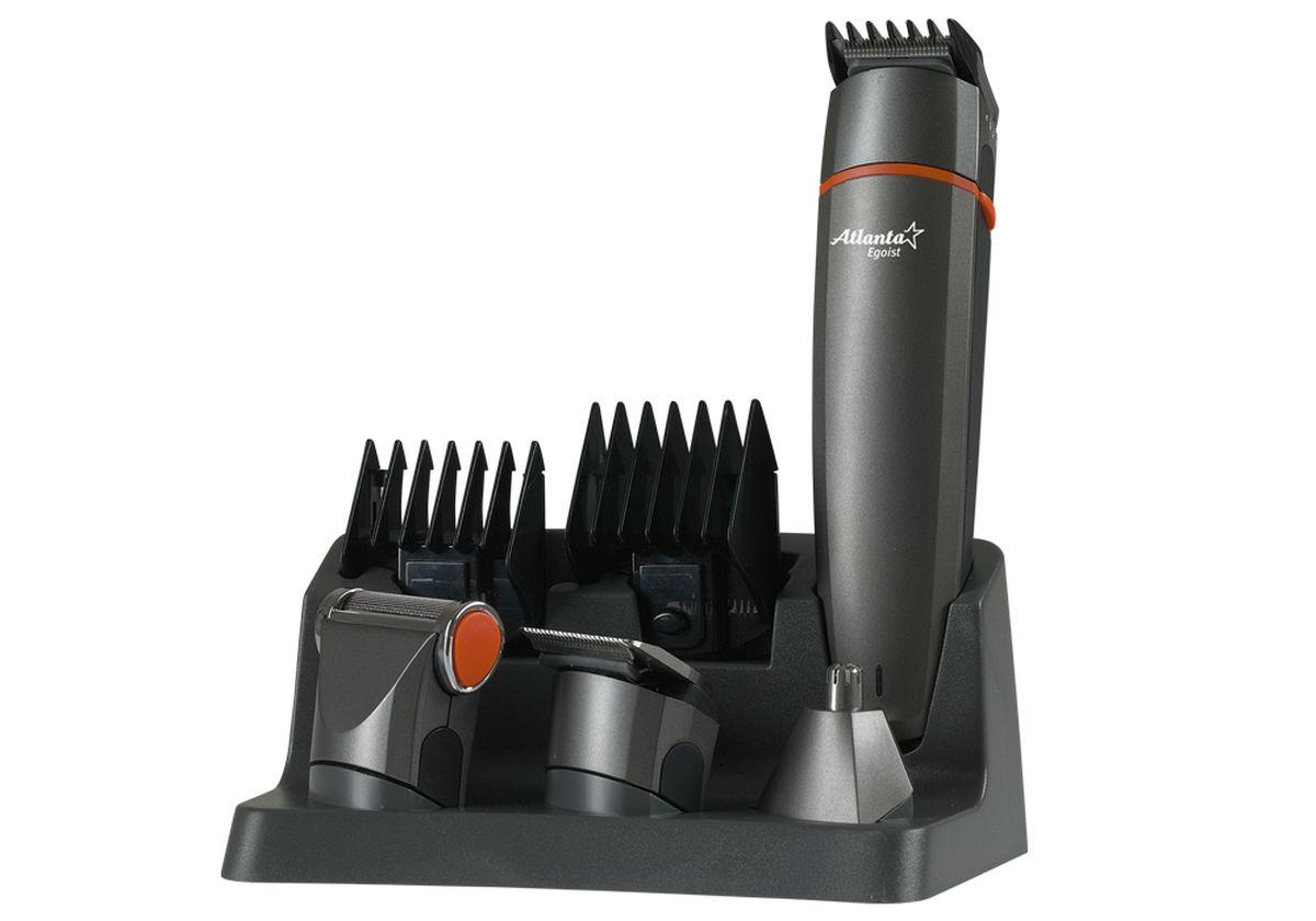 Atlanta ATH-845, Gray машинка для стрижки77.858@23534Машинка для стрижки волос Atlanta ATH-845. Плавная регулировка длины стрижки осуществляется при помощи шести насадок, идущих в комплекте с устройством. Корпус выполнен из материала, который не позволяет машинке выскальзывать из рук. Современный и эргономичный дизайн.Красивую и модную прическу теперь можно сделать не только в парикмахерской, но и дома.