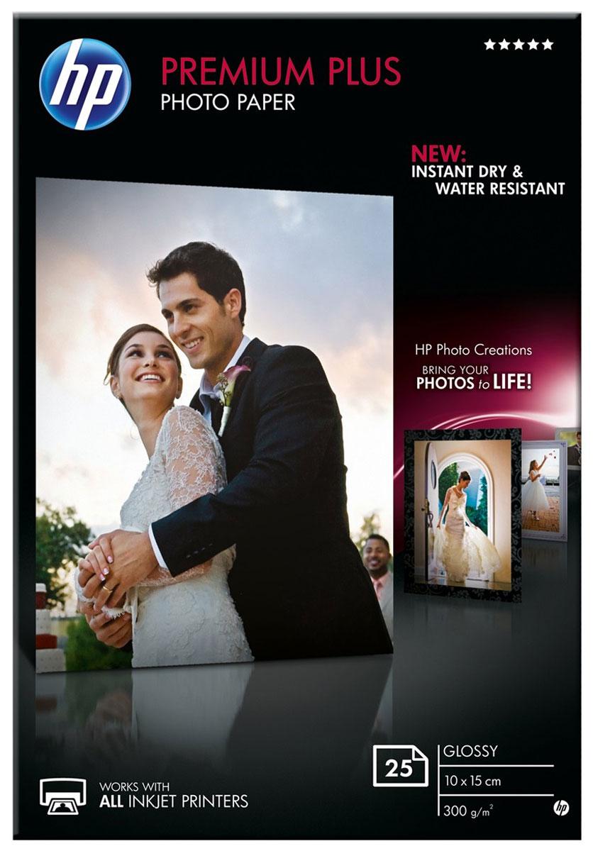 HP Premium Plus 300/A6/25 глянцевая фотобумага высокого качества (CR677A)