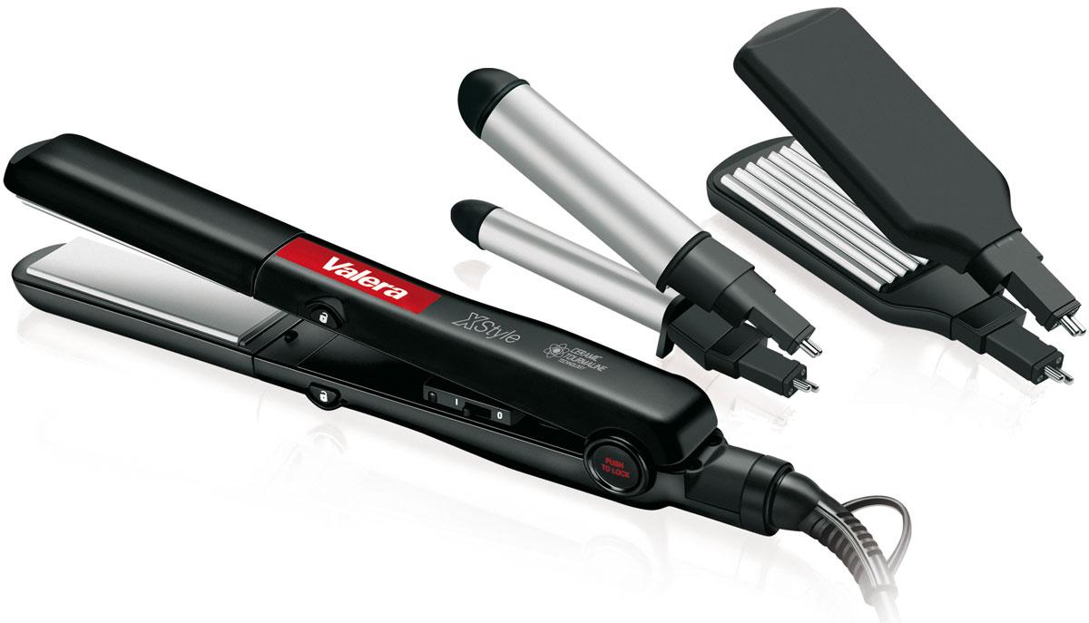 Valera 645.01 X-Style, Black набор для моделирования волос645.01Набор для моделирования волос Valera X-Style с керамическим покрытием пластин для бережного отношения к волосам и турмалиновой технологией для снятия статического напряжения с волос, чтобы сделать их более мягкими и послушными.В набор входят выпрямитель для волос, щипцы для завивки волос 19 мм и насадка для гофрирования волос.