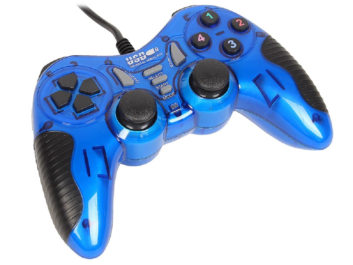 3Cott Single GP-06, Blue геймпад3126533Cott Single GP-06 - проводной геймпад в пластиковом корпусе с интерфейсом USB и 2 аналоговыми джойстиками.Это идеальное устройство для ведения виртуальных боевых действий. Он оснащен всеми необходимыми функциями, которые нужно использовать для победы в захватывающих баталиях.Модель имеет эргономичный дизайн, поэтому его приятно держать в руке, он не маленький и не слишком большой. Вы сможете выполнять любые маневры, без каких-либо препятствий.Для достижения реалистичности игрового процесса в этой модели от компании 3Cott реализована функция виброотдачи, позволяющая ощутить каждый толчок, удар или столкновение.