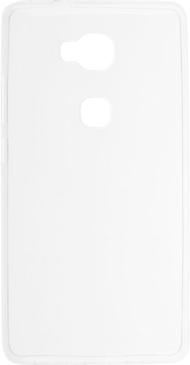 Skinbox Slim Silicone чехол-накладка для Huawei Honor 5X, Clear2000000088396Накладка Skinbox Slim Silicone для Huawei Honor 5X надежно защищает ваш смартфон от внешних воздействий, грязи, пыли, брызг. Он также поможет при ударах и падениях, не позволив образоваться на корпусе царапинам и потертостям. Чехол обеспечивает свободный доступ ко всем функциональным кнопкам смартфона и камере.