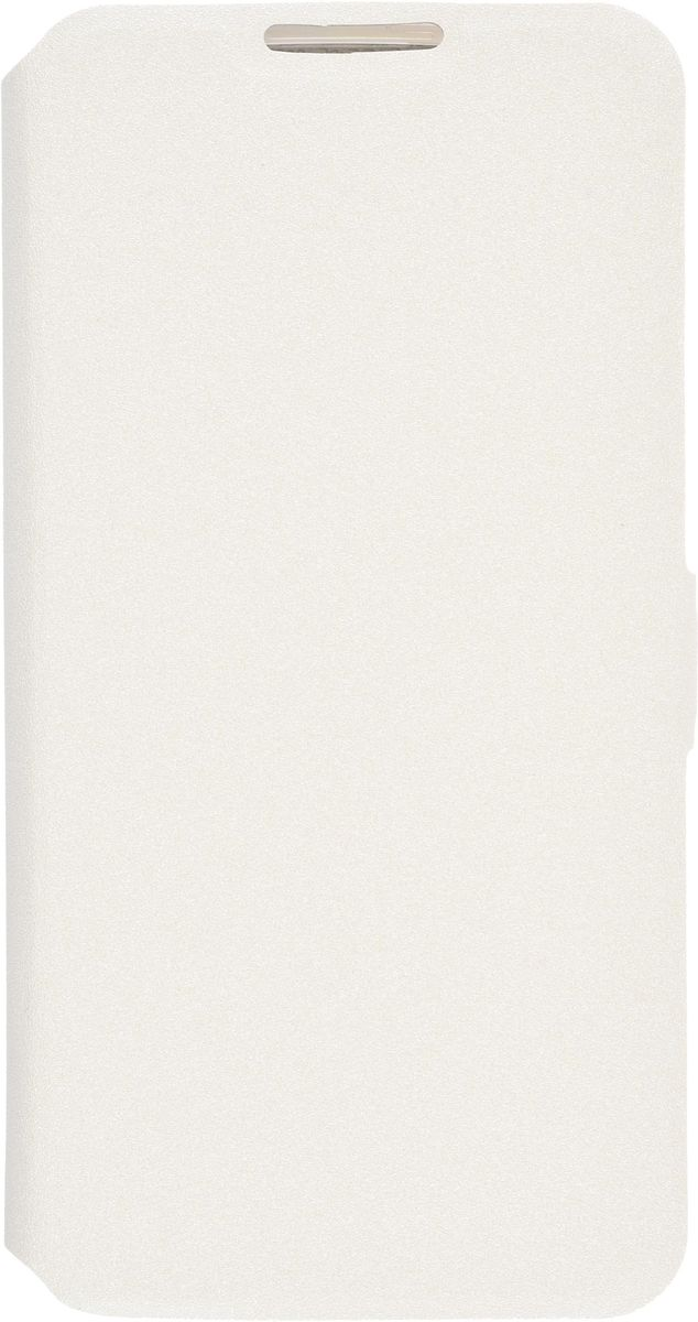 Prime Book чехол-книжка для LG K8, White2000000092676Чехол-книжка для LG K8 PRIME book надежно защищает ваш смартфон от внешних воздействий, грязи, пыли, брызг. Он также поможет при ударах и падениях, не позволив образоваться на корпусе царапинам и потертостям. Чехол обеспечивает свободный доступ ко всем функциональным кнопкам смартфона и камере. Трансформируется в подставку для удобного просмотра видео.