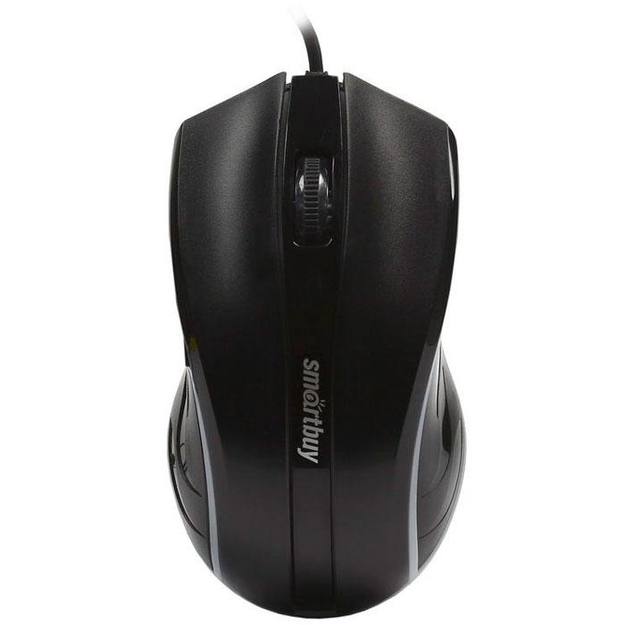 SmartBuy One 338, Black мышьSBM-338-KСтильная проводная мышь SmartBuy One 338 станет отличным дополнением к современному компьютеру. Благодаря симметричной форме и углублениям для пальцев, она подходит для управления любой рукой и не напрягает кисть при длительном использовании. Оптический сенсор с разрешением 1000 dpi позволяет использовать мышь для работы в различных приложениях. Синяя подсветка выгодно подчеркивает изящный дизайн устройства в ночное время. Мышь не требует установки драйверов и готова к работе сразу после подключения к USB-порту компьютера.