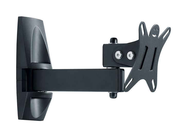 Holder LCDS-5004М, Metallic кронштейн для ТВLCDS-5004М, металликКрепление для ТВ и мониторов Holder LCDS-5004 – это многофункциональный поворотный кронштейн, который позволяет практично регулировать и прижимать к стене экран. Данное крепление подходит для телевизоров, а также мониторов с диагональю, варьирующейся в пределах от 10 до 26 дюймов. Кронштейн практично и надежно фиксирует устройство на стене. Предусмотрена удобная функция наклона, благодаря которой пользователь способен регулировать положение телевизора по личному предпочтению.