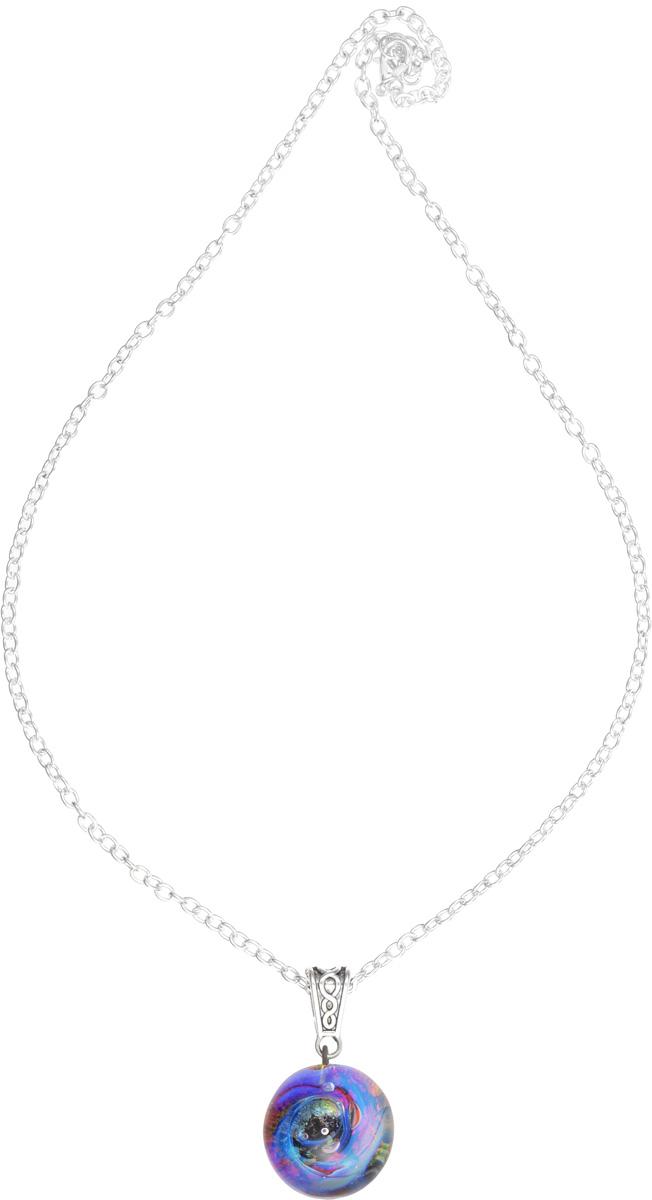 Кулон Lampwork Галактика. Черная дыра. Ручная авторская работаБрошь-инталияКулон шар из прозрачного стекла с маленькой площадкой сзади. Внутри цветное объемное изображение. шар 2,5 см