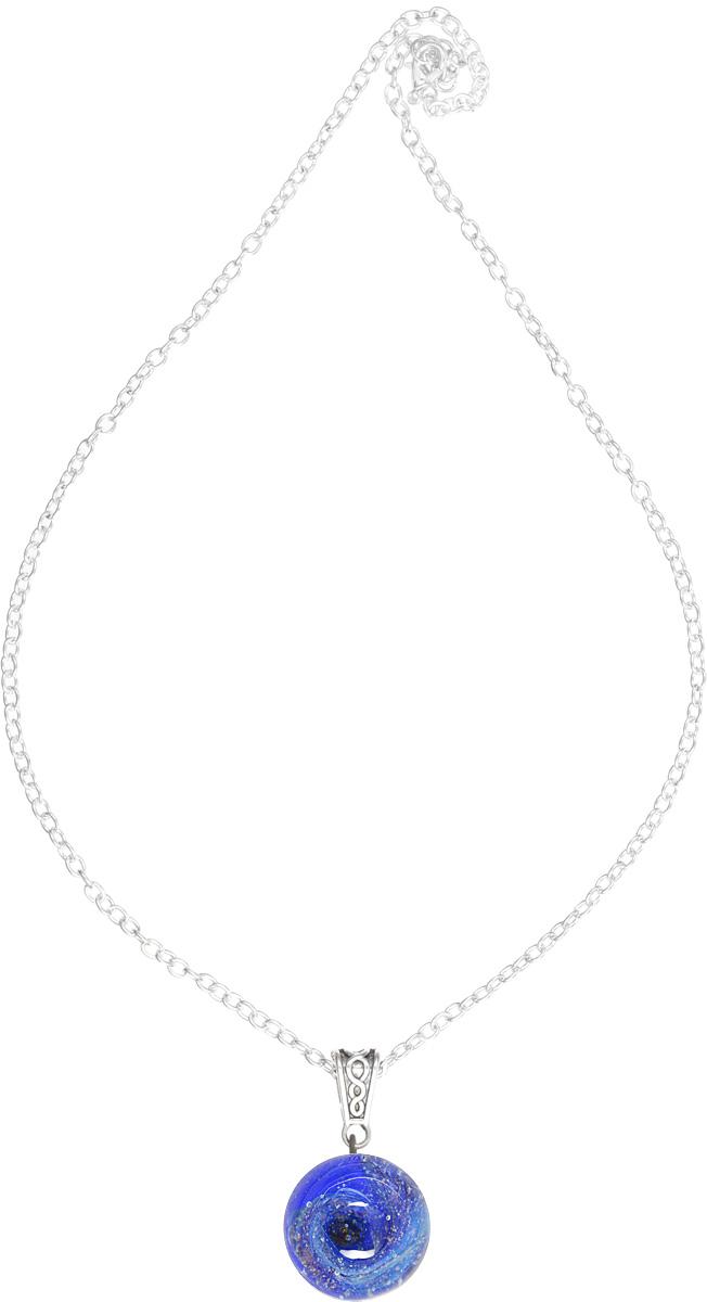 Кулон Lampwork Загадочный космос. Ручная авторская работа39890|Колье (короткие одноярусные бусы)Кулон шар из прозрачного стекла с маленькой площадкой сзади. Внутри цветное объемное изображение. шар 2,5 см