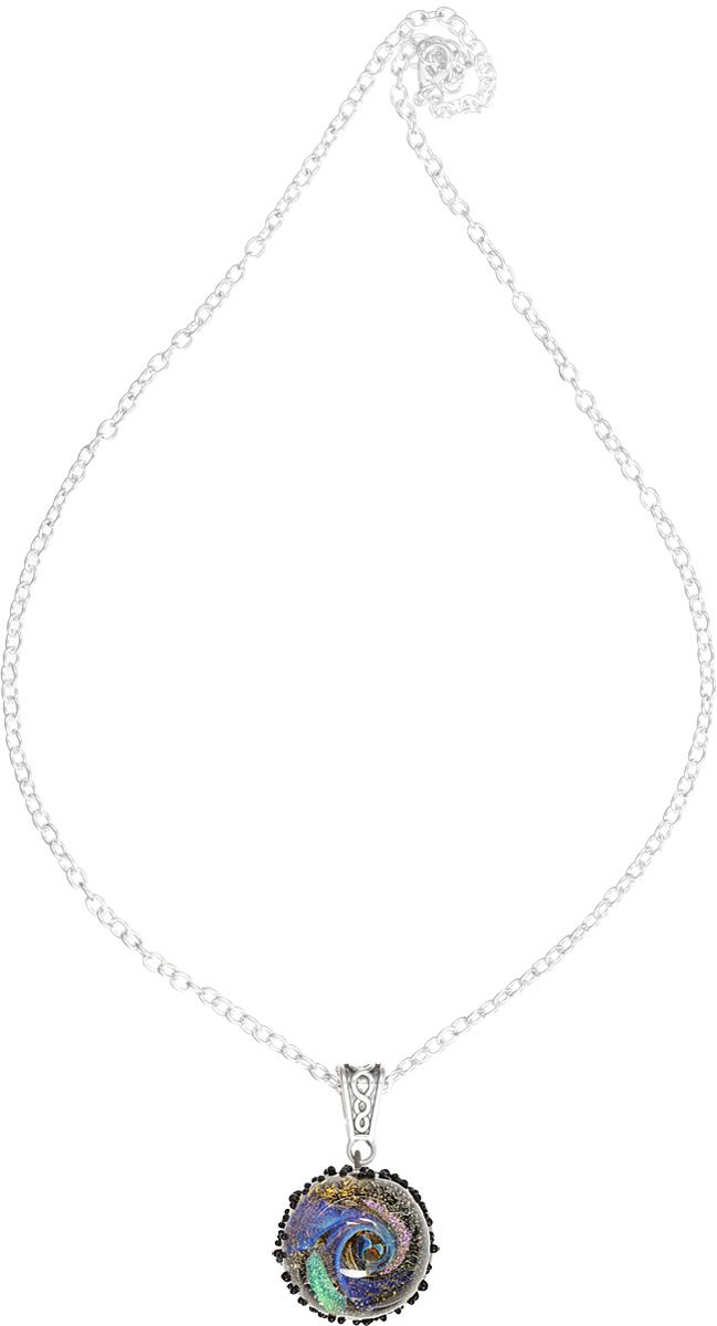 Кулон Lampwork Пояс атероидов. Ручная авторская работаБраслет с подвескамиКулон полусфера из прозрачного стекла. Внутри цветное объемное изображение. 2, 4 см