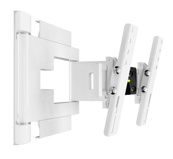Holder LEDS-7015, White кронштейн для ТВLEDS-7015, белыйНадежное металлическое основание кронштейна Holder LEDS-7015 (толщина металла 3 мм) и крепление до 8 винтов гарантируют сохранность устанавливаемой техники.Внутри декоративных корпусных деталей кронштейна находится усиленный металлический несущий каркас, испытанный трехкратной нагрузкой. Металлический каркас исключает провисание кронштейна под тяжестью техники.Кронштейн сконструирован с учетом особенностей телевизионной техники. Четко вымеренное расстояние от стены позволяет устанавливать телевизоры с различными разъемами (в том числе и с перпендикулярными разъемами). Расстояние от стены предотвращает перегрев телевизора, а так же гарантирует максимальный эффект звучания.В корпус деталей интегрирован кабель-канал с эксклюзивным способом укладки проводов, для использования которого не нужно инструментов. Направляющие в кабель-канале позволяют аккуратно расположить до 6 проводов.