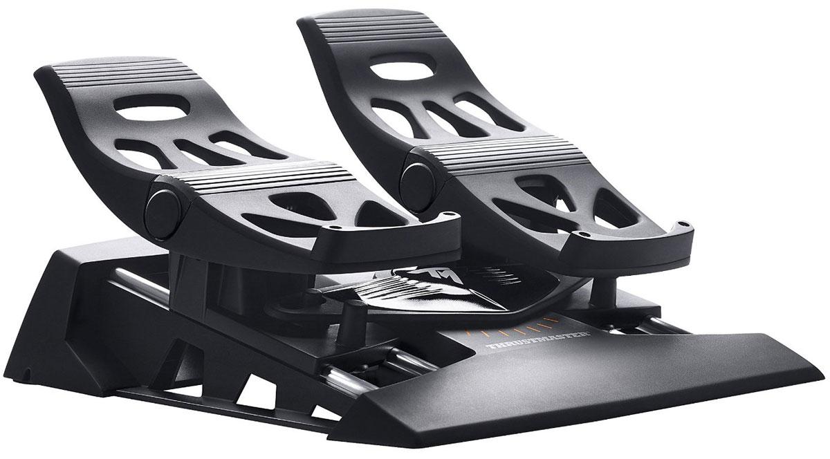 Thrustmaster TFRP Rudder дополнительные авиа-педали для PC/PS3/PS4 (2960764)2960764Thrustmaster TFRP Rudder - это дополнительные педали для авиа-симуляторов на платформах PS3, PS4 и PC.Это первый руль направления с системой направляющих рельсов S.M.A.R.T для плавного управления. Модель имеет эргономичный дизайн с упорами для пяток, позволяющий целиком поставить ногу на педаль.Система из четырех направляющих рельсов из алюминия промышленного класса обеспечивает превосходное скольжение.Педаль с длиной хода 15° нажимается под уклоном во избежание случайной активации тормоза при использовании руля направления.Продвинутое ПО T.A.R.G.E.T для ПК обеспечивает программирование осей рулей направления и дифференциальных тормозов.Особенности:Большие дифференциальные педали тормоза: 25 см (45-й размер обуви).При снятом упоре для пятки можно управлять рулем подушками стоп, уперев пятки в пол.При установленном упоре для пятки стопу можно полностью поставить на педаль.