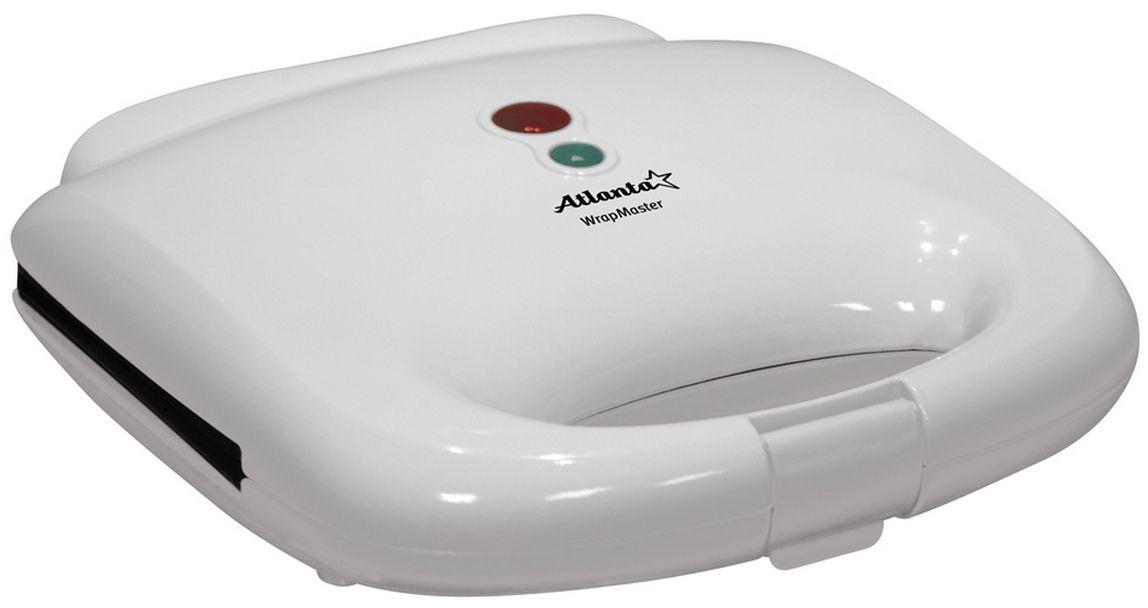 Atlanta ATH-170 сэндвичницаATH-170Сэндвичница Atlanta ATH-170 позволит за считанные минуты позволит приготовить вкуснейшие сэндвичи. Антипригарное покрытие не допустит появления у вас на столе подгоревшей еды. Кроме того, данная модель легко моется и не занимает много места при хранении благодаря вертикальному относительно поверхности положению корпуса. Также имеется замок на ручке для комфортной транспортировки.