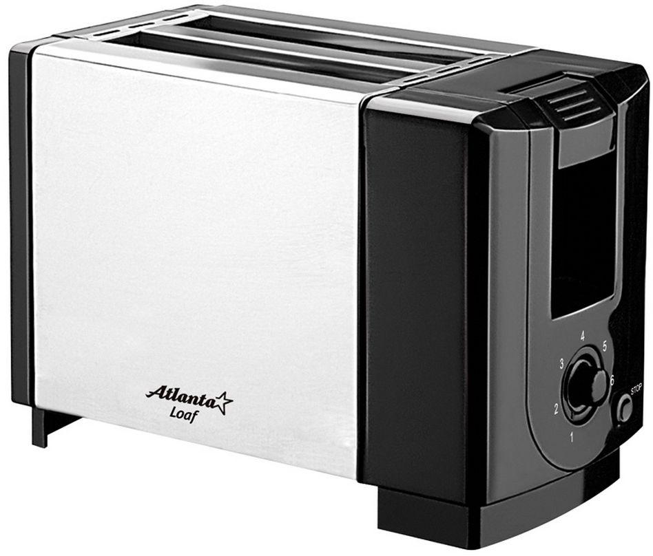 Atlanta ATH-1031 тостерATH-1031Тостер Atlanta ATH-1031 представляет собой сочетание удобства, функциональности и элегантного внешнего вида. Мощность в 750 Вт, простота управления и быстрое приготовление тостов, дополняется возможностью регулировки степени обжарки.Компактное и легкое в управлении устройство позволит приготовить вкуснейшие тосты за считанные минуты стразу на двоих. Вы можете в любой момент остановить процесс поджаривания, просто нажав на соответствующую кнопку. Ухаживать за тостером легко и приятно благодаря наличию поддона для крошек.