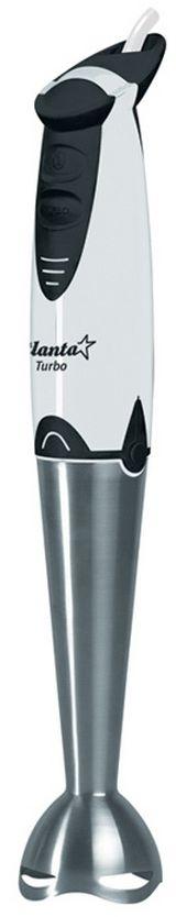 Atlanta ATH-334, White блендерATH-334Atlanta ATH-334 несомненно станет незаменимым помощником для любой хозяйки. Мощный DC мотор выдает до 11000 оборотов в минуту, что идеально подходит приготовления молочных коктейлей, супов или пюре. Этот блендер поможет вам упростить приготовление блюд и не разводить беспорядок на кухне. Корпус прибора выполнен из прочного пластика, а насадки изготовлены из качественного металла.