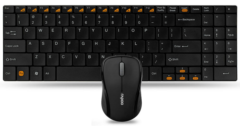 Клавиатура + мышь Rapoo 9060, Black