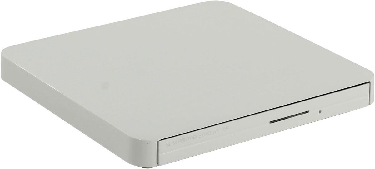 LG GP50NW41, White внешний оптический приводGP50NW41Компактный внешний DVD-привод LG GP50NW41 станет отличным решением для ультрабуков и нетбуков, лишенных встроенных оптических приводов. Устройство подключается к персональному компьютеру посредством интерфейса USB 2.0 и поддерживает чтение и запись большинства современных форматов оптических носителей. Данная модель также отличается быстротой и бесшумностью в работе.Методы записи: Disc-at-once, Track-at-once, Session-at-once, Multisession, Packet writing, RAW writing, Overburn Время доступа DVD: 160 мс, CD: 140 мс, DVD-RAM: 360 мс Скорость чтения CD-ROM/R/RW: 24x Max; DVD-ROM: 8x Max; DVD-RAM: 6x, DVD-Video: 4x Скорость записи DVD+R: 8x, DVD+RW: 8x, DVD-R: 8x. DVD-RW: 6x. CD-R: 24x, CD-RW: 24x, DVD+R9 (dual layer): 6x, DVD-R DL (dual layer): 6x, DVD-RAM: 5xMTBF: 60 тыс. часовТребования к системе: Pentium IV 2.4 ГГц, ОЗУ 256 Мб, 20 Гб на жестком диске ОС: Windows 7, Windows Vista, Windows XP, Mac OS X 10.5.4