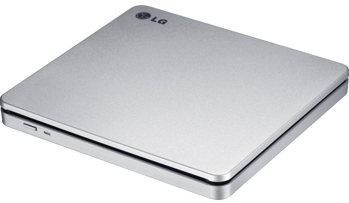 LG GP70NS50, Silver внешний оптический приводGP70NS50Компактный внешний DVD-привод LG GP70NS50 станет отличным решением для ультрабуков и нетбуков, лишенных встроенных оптических приводов. Устройство подключается к персональному компьютеру посредством интерфейса USB 2.0 и поддерживает чтение и запись большинства современных форматов оптических носителей. Данная модель также отличается быстротой и малым уровнем шума при работе.Время доступа DVD: 167 мс, CD: 139 мс, DVD-RAM: 303 мсСкорость чтения DVD-R/RW/ROM 8x/8x/8x m, DVD-R DL 8x m. DVD-Video(CSS Compliant Disc) 4x max (Single/Duallay. DVD+R/+RW 8x/8x m, DVD+R DL 8x max M-DISC , DVD-RAM (Ver.2.2), CD-R/RW/ROM 24x/24x/24x m, CD-DA (DAE) 24x max.Скорость записи CD-R 10x CLV, 16x PCAV, 24x C, CD-RW 4x, 10x CLV. 16x ZCLV.24x, ZCLV(HighSpeed: 10xCLV.UItraSpeed: 24xZCLV, Ultra Speed plus: 24x ZCLV), DVD+R 2.4x CLV, 4x PCAV, 8x C. DVD+R DL 2.4x CLV, DVD+RW2.4xТребования к системе: Pentium IV 2.4 ГГц, ОЗУ 256 Мб, 20 Гб на жестком дискеОС: Windows 8, 7, Windows Vista, Windows XP, Mac OS X 10.5.4