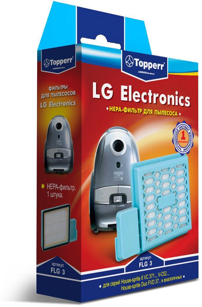Topperr FLG 3 HEPA-фильтр для пылесосовLG Electronics1118HEPA-фильтр Topperr FLG 3 для пылесосов LG ELECTRONICS. Обладает высочайшей степенью фильтрации, задерживает 99,5% пыли. Благодаря специальным свойствам фильтрующего материала, фильтр улавливает мельчайшие частицы, позволяя очищать воздух от пыльцы, микроорганизмов, бактерий и пылевых клещей.