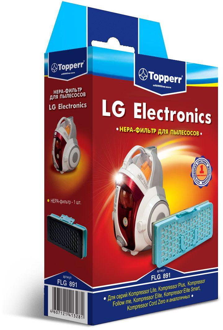Topperr FLG 891 комплект фильтров для пылесосовLG Electronics1127НЕРА-фильтр Topperr FLG 891 предназначен для пылесосов LG ELECTRONICS серий Kompressor Lite, Kompressor Plus, Kompressor Follow me, Kompressor Elite, Kompressor Elite Smart и аналогичных. НЕРА-фильтрОбладает высочайшей степенью фильтрации, задерживает 99,5% пыли. Благодаря специальной концентрации и свойствам фильтрующего материала, фильтр улавливает мельчайшие частицы, позволяя очищать воздух от пыльцы, микроорганизмов, бактерий и пылевых клещей.Уважаемые клиенты!Обращаем ваше внимание на возможные изменения в дизайне упаковки. Качественные характеристики товара остаются неизменными. Поставка осуществляется в зависимости от наличия на складе.