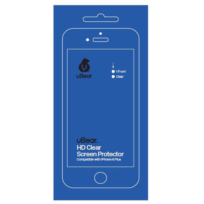 uBear защитная пленка для iPhone 6 Plus/6s Plus, глянцеваяSP01CL01-I6PПрозрачная защитная пленка uBear для iPhone 6 Plus/6s Plus - одна из немногих пленок на рынке с твердостью 4H, что обеспечивает отличную защиту экрана вашего устройства от царапин. Инновационное покрытие гарантирует отсутствие отпечатков пальцев. Пленка не препятствует прохождению сенсорного сигнала.