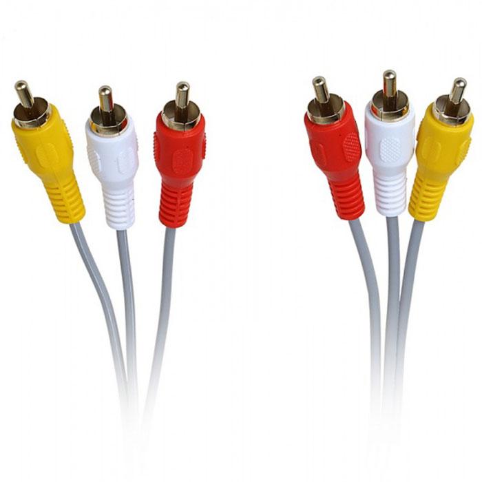 SmartBuy KA235-25 3xRCA кабель (5 м)KA235-25Кабель SmartBuy KA235-25 применяется для подключения различных мультимедийных устройств, таких как телевизор, видеомагнитофон, DVD-плеер.