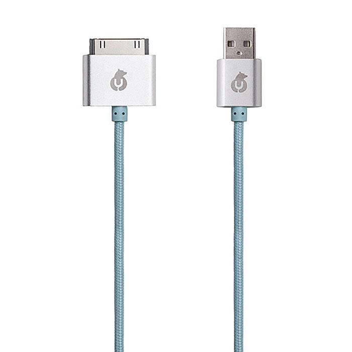 uBear Data Sync-USB, Light Blue кабель Apple 30-pinDC02LB01-I4Вы полюбите кабель uBear Data Sync-USB Apple 30-pin с первого взгляда. Прикоснувшись к нему один раз, вы сразу сможете оценить все преимущества: тканевая оплетка, обеспечивающая износостойкость и долговечность, высокая скорость синхронизации данных, строгость линий и качество в каждом элементе.