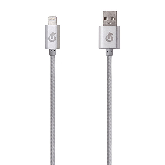 uBear Lightning-USB, Gray кабель Apple LightningDC01CG01-I5Вы полюбите алюминиевый кабель uBear Lightning-USB с первого взгляда. Прикоснувшись к нему один раз, вы сразу сможете оценить все преимущества: тканевая оплетка, обеспечивающая износостойкость и долговечность, высокая скорость синхронизации данных, строгость линий и качество в каждом элементе.