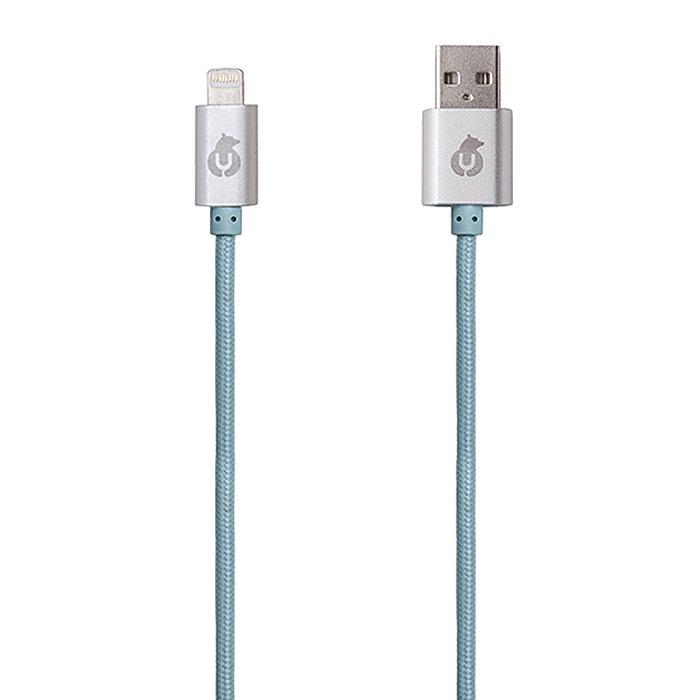 uBear Lightning-USB, Light Blue кабель Apple LightningDC01LB01-I5Вы полюбите алюминиевый кабель uBear Lightning-USB с первого взгляда. Прикоснувшись к нему один раз, вы сразу сможете оценить все преимущества: тканевая оплетка, обеспечивающая износостойкость и долговечность, высокая скорость синхронизации данных, строгость линий и качество в каждом элементе.