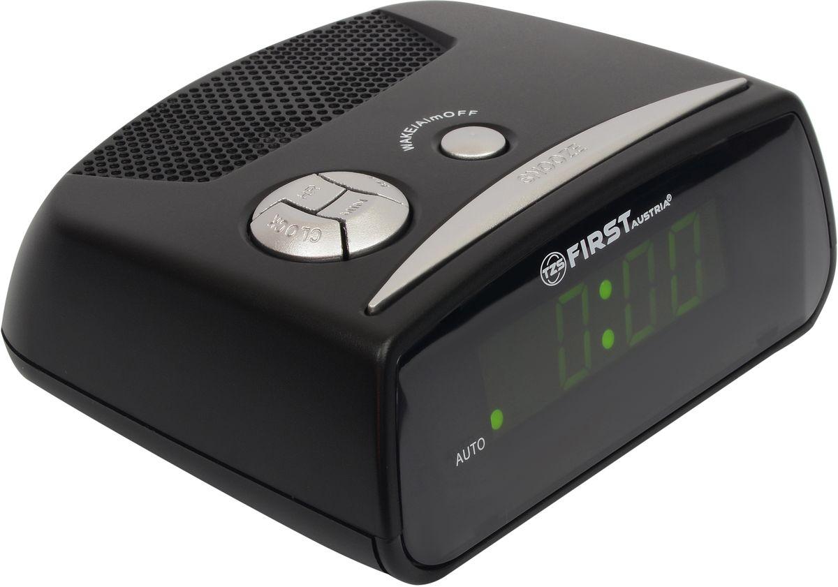 First FA-2410-BA цифровой будильникFA-2410-BAFirst FA-2410-BA - цифровой будильник с LED-дисплеем диагональю 0,6 дюйма. Устройство изготовлено из качественных материалов и позволит вам просыпаться вовремя без риска опоздать куда-либо. Вы также можете активировать отложенный сигнал чтобы поспать еще немного времени. Будильник отключится и прозвенит через 9 минут.Резервное питание: 1 батарейка 9В (в комплект не входит)