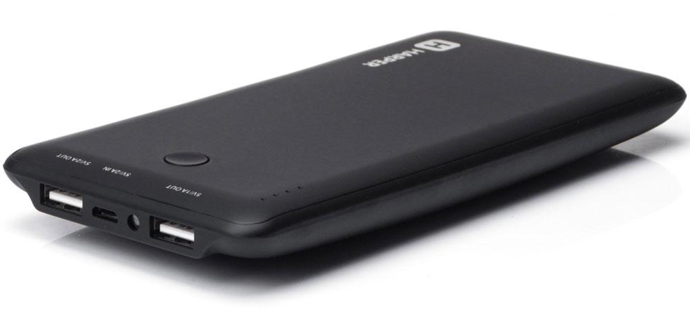 Harper PB-10001, Black внешний аккумуляторH00000958Внешний аккумулятор может похвастаться внушительной емкостью - 10000 мАч. Этого достаточно для полной подзарядки пяти смартфонов. Девайс оснащен двумя полноразмерными USB-портами, поэтому вы сможете сэкономить время и подзарядить сразу несколько устройств. Об уровне заряда сообщает специальный LED-индикатор. Кроме того, аккумулятор оснащен встроенным фонариком, что является весьма приятным бонусом.