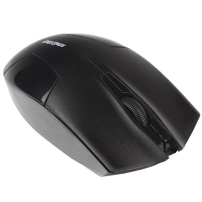 SmartBuy One 341AG, Black мышьSBM-341AG-KСпециальный высокоточный сенсор SmartBuy One 341AG с разрешением 1000 dpi обеспечивает уверенную работу даже на неровных и рельефных поверхностях. Радиус беспроводной связи составляет 10 метров, что обеспечивает большую свободу действий. В комплект с устройством входит миниатюрный USB-приемник, который легко прячется в корпус.