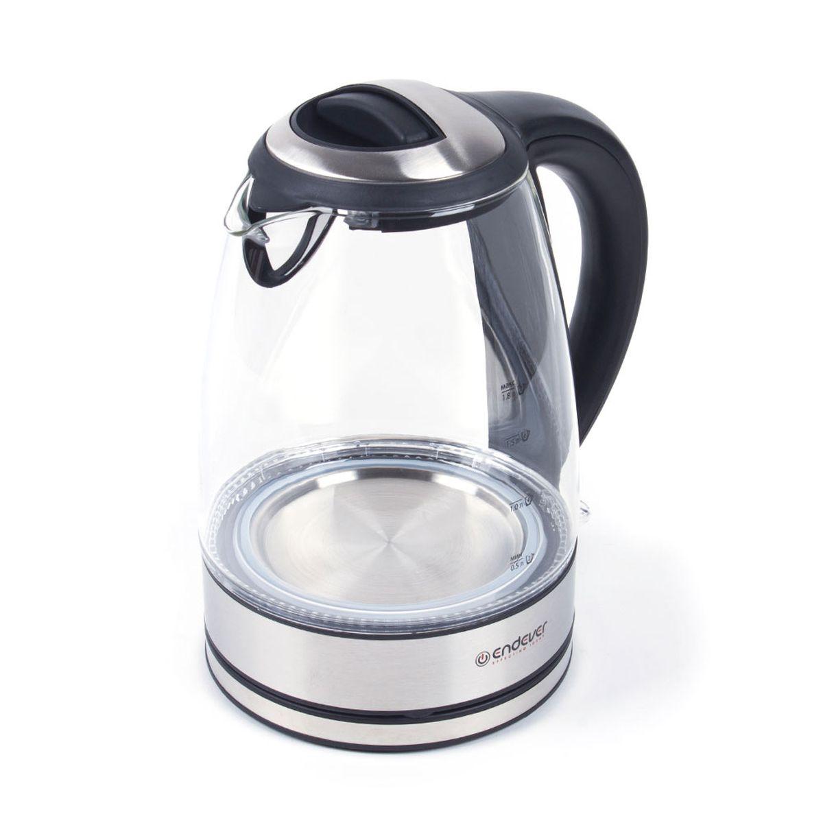 Endever KR-316G Skyline чайник электрическийKR-316GEndever KR-316G Skyline - это мощная (2400 Вт) модель большого объема (1,8 л). С помощью этого чайника вы сможете приготовить чай на большую компанию за считанные минуты. Вращающийся корпус сделает использование чайника еще более удобным, а фильтр избавит от попадания накипи в чашку. Корпус из термостойкого ВIO-стекла исключает выделение вредных веществ, кислот и солей, сохраняет полезные свойства и природный вкус воды.