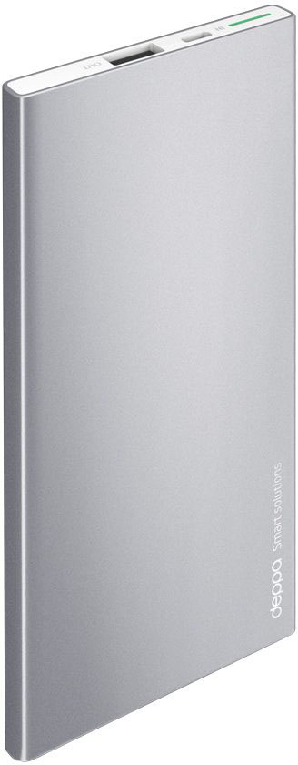 Deppa NRG Alum внешний аккумулятор (5000 мАч)33514Внешний аккумулятор Deppa NRG Alum, его строгий металлический корпус глубокого графитового цвета стильно сочетается с флагманскими смартфонами и планшетами.В комплект с аккумулятором входит стильный силиконовый чехол, который идеально повторяет корпус устройства и защищает его от повреждений.Включение и проверка текущего заряда NRG Alum работает по технологии Shake-to-power - для его активации достаточно встряхнуть корпус.Надежность и безопасность вашего устройства обеспечивают самые передовые технологии защиты аккумулятора.Внешние аккумуляторы NRG Alum совместимы с любыми мобильными и цифровыми устройствами с функцией заряда от USB-порта.