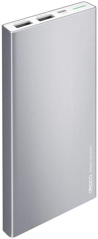 Deppa NRG Alum внешний аккумулятор (10000 мАч)33515Внешний аккумулятор Deppa NRG Alum, его строгий металлический корпус глубокого графитового цвета стильно сочетается с флагманскими смартфонами и планшетами.В комплект с аккумулятором входит стильный силиконовый чехол, который идеально повторяет корпус устройства и защищает его от повреждений.Включение и проверка текущего заряда NRG Alum работает по технологии Shake-to-power - для его активации достаточно встряхнуть корпус.Надежность и безопасность вашего устройства обеспечивают самые передовые технологии защиты аккумулятора.Внешние аккумуляторы NRG Alum совместимы с любыми мобильными и цифровыми устройствами с функцией заряда от USB-порта.