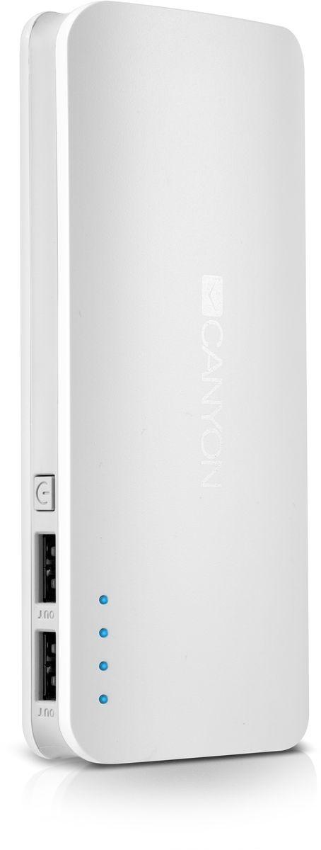 Canyon CNE-CPB130W, White внешний аккумулятор (13000 мАч)CNE-CPB130WЕсли в вашей сумке лежит аккумулятор Canyon CNE-CPB130W - вы не останетесь с разряженной батареей смартфона или планшета. Низкий заряд гаджета больше не проблема - благодаря двум USB-портам от ультраёмкого аккумулятора Canyon можно заряжать 2 устройства одновременно! Ёмкости аккумулятора должно хватить на 5 зарядок среднестатистического смартфона. А проследить уровень заряда аккумулятора можно с помощью светодиодных индикаторов. Отличный помощник в городе и в поездке!