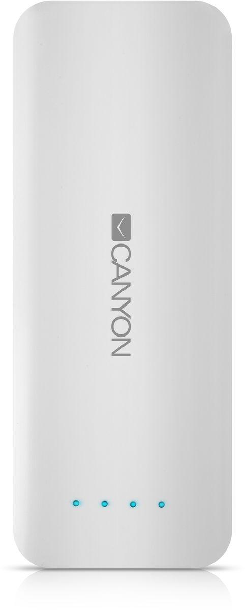Canyon CNE-CPB156W, White внешний аккумулятор (15600 мАч)CNE-CPB156WЕсли в вашей сумке лежит аккумулятор Canyon CNE-CPB156W - вы не останетесь с разряженной батареей смартфона или планшета. Низкий заряд гаджета больше не проблема - благодаря двум USB-портам от ультраёмкого аккумулятора Canyon можно заряжать 2 устройства одновременно! Ёмкости аккумулятора должно хватить на 5-6 зарядок среднестатистического смартфона. А проследить уровень заряда аккумулятора можно с помощью светодиодных индикаторов. Отличный помощник в городе и в поездке!