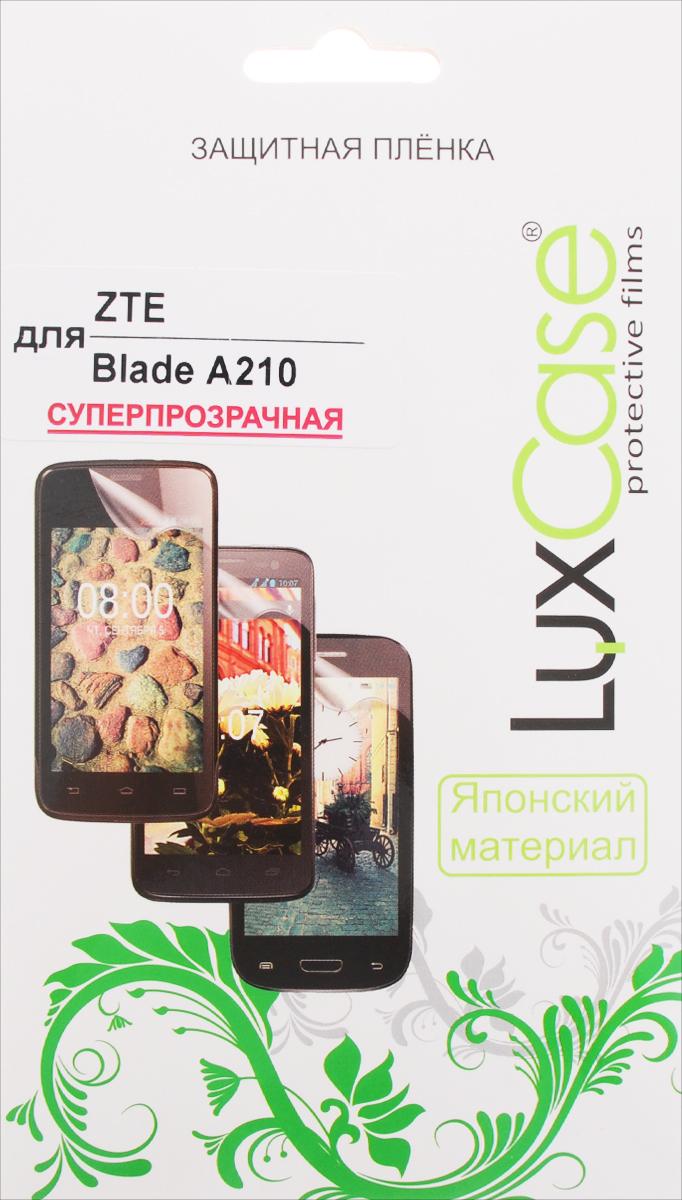 LuxCase защитная пленка для ZTE Blade A210, суперпрозрачная51471Защитная пленка LuxCase для ZTE Blade A210 сохраняет экран смартфона гладким и предотвращает появление на нем царапин и потертостей. Структура пленки позволяет ей плотно удерживаться без помощи клеевых составов и выравнивать поверхность при небольших механических воздействиях. Пленка практически незаметна на экране смартфона и сохраняет все характеристики цветопередачи и чувствительности сенсора.