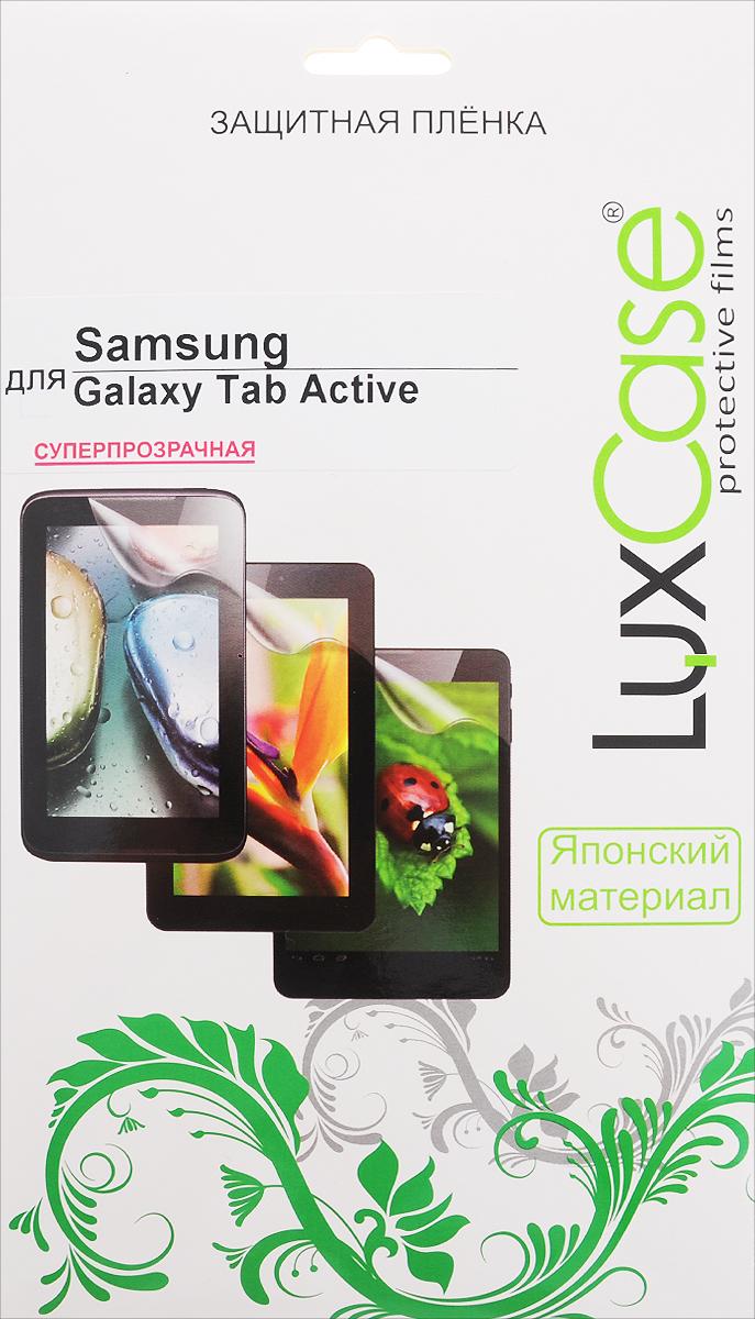 LuxCase защитная пленка для Samsung Galaxy Tab Active, суперпрозрачная52557Суперпрозрачная защитная пленка LuxCase для Samsung Galaxy Tab Active сохраняет экран устройства гладким и предотвращает появление на нем царапин и потертостей. Структура пленки позволяет ей плотно удерживаться без помощи клеевых составов и выравнивать поверхность при небольших механических воздействиях. Пленка практически незаметна на экране гаджета и сохраняет все характеристики цветопередачи и чувствительности сенсора.