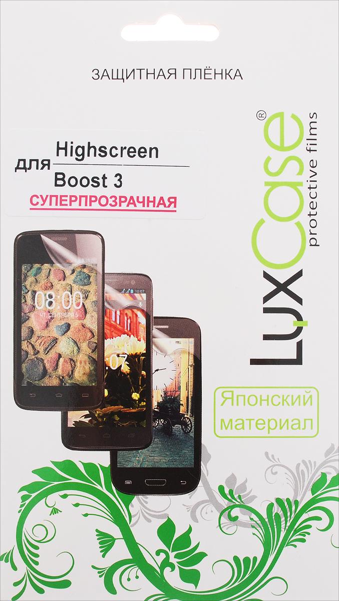 LuxCase защитная пленка для Highscreen Boost 3, суперпрозрачная51549Защитная пленка LuxCase для Highscreen Boost 3 сохраняет экран смартфона гладким и предотвращает появление на нем царапин и потертостей. Структура пленки позволяет ей плотно удерживаться без помощи клеевых составов и выравнивать поверхность при небольших механических воздействиях. Пленка практически незаметна на экране смартфона и сохраняет все характеристики цветопередачи и чувствительности сенсора.