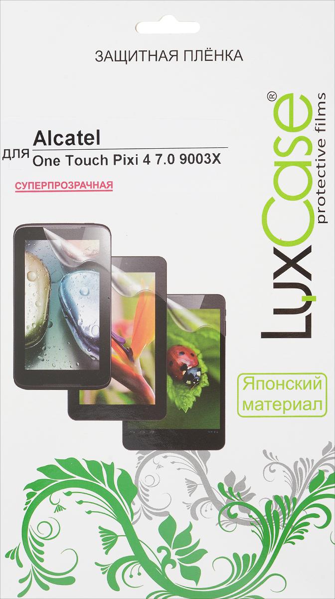 LuxCase защитная пленка для Alcatel One Touch Pixi 4 7.0 9003X, суперпрозрачная51363Защитная пленка LuxCase для Alcatel One Touch Pixi 4 7.0 9003X сохраняет экран устройства гладким и предотвращает появление на нем царапин и потертостей. Структура пленки позволяет ей плотно удерживаться без помощи клеевых составов и выравнивать поверхность при небольших механических воздействиях. Пленка практически незаметна на экране планшета и сохраняет все характеристики цветопередачи и чувствительности сенсора.